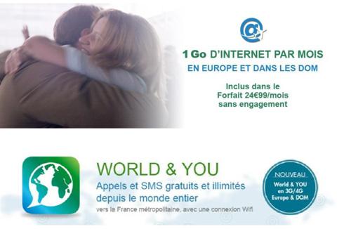 4G : B&YOU améliore ses offres depuis l'Europe et les DOM