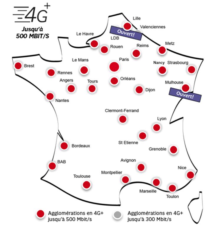 4G+ : SFR poursuit ses déploiements massifs
