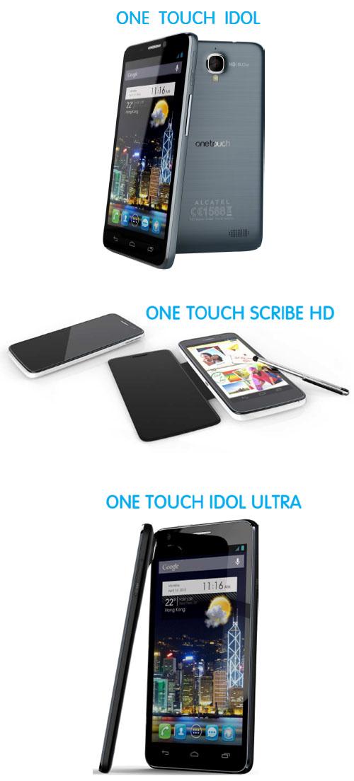 Alcatel One Touch dévoile ses modèles 2013