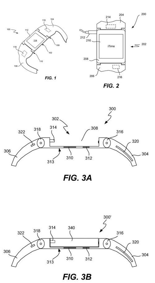 """Apple a déposé les brevets pour sa montre connectée """" iTime"""""""