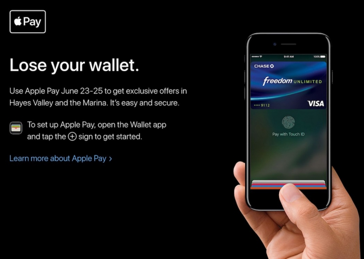 Apple invite les américains à «laisser tomber leur portefeuille» au profit de son appli Apple Pay