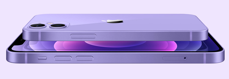 Apple propose désormais l'iPhone 12 et l'iPhone 12 mini en mauve