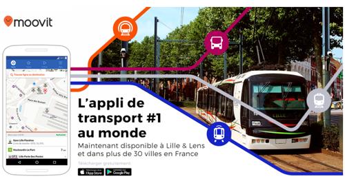 L'application Moovit débarque dans les villes de Lille et Lens