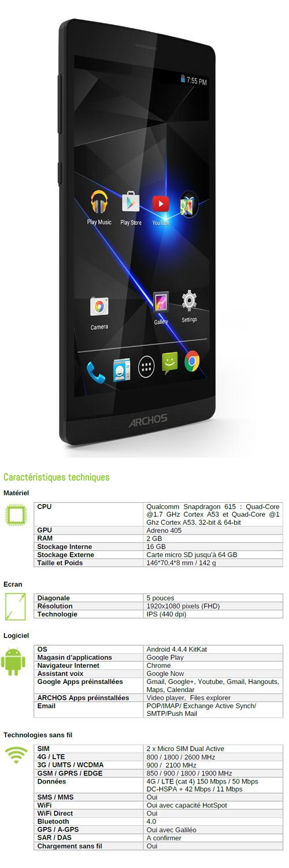 archos 50 diamond un smartphone 4g moins de 200 euros. Black Bedroom Furniture Sets. Home Design Ideas