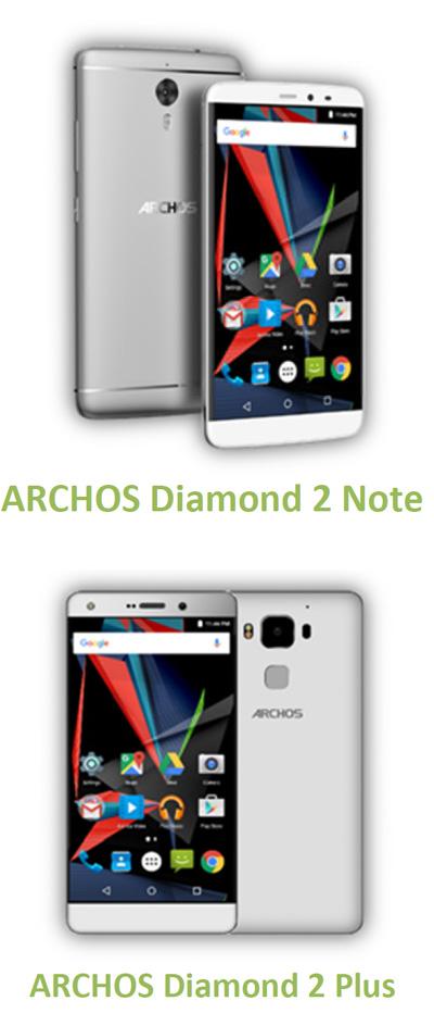Archos lance en mai deux nouveaux smartphones dans sa gamme Diamond