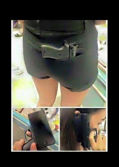 Une coque d'iPhone en forme d'arme de poing  inquiète les forces de l'ordre