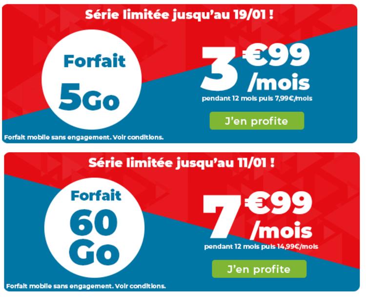 Auchan Telecom : deux forfaits en série limitée 5 Go et 150 Go jusqu'au 27 octobre