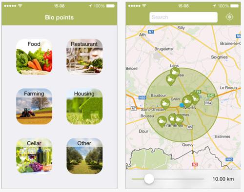 Bio Locator : une application qui encourage la consommation Bio et locale