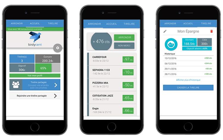Birdycent, une application mobile pour épargner sans s'en rendre compte