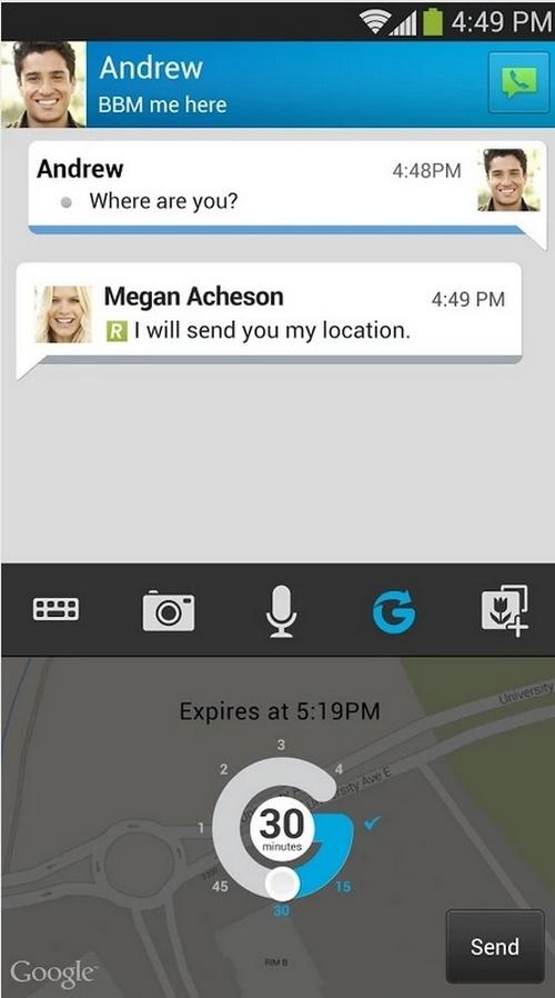 BlackBerry Messenger intègre désormais des messages éphémères