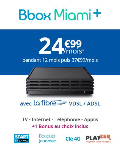 Bouygues Telecom étoffe ses offres Fixe avec sa nouvelle offre Bbox Miami+