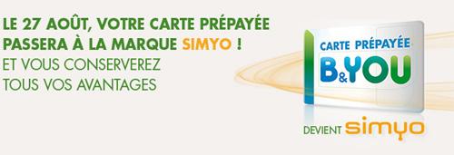 Bouygues Télécom : le 27 août, B&YOU devient Simyo