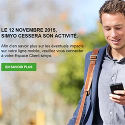 L'opérateur virtuel Simyo cessera son activité le 12 novembre 2015