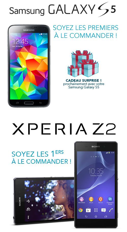 Bouygues Telecom va commercialiser le Samsung Galaxy S5 et le Sony Xperia Z2