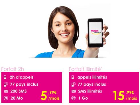 Budget Mobile lance un forfait illimité à 15,99 euros