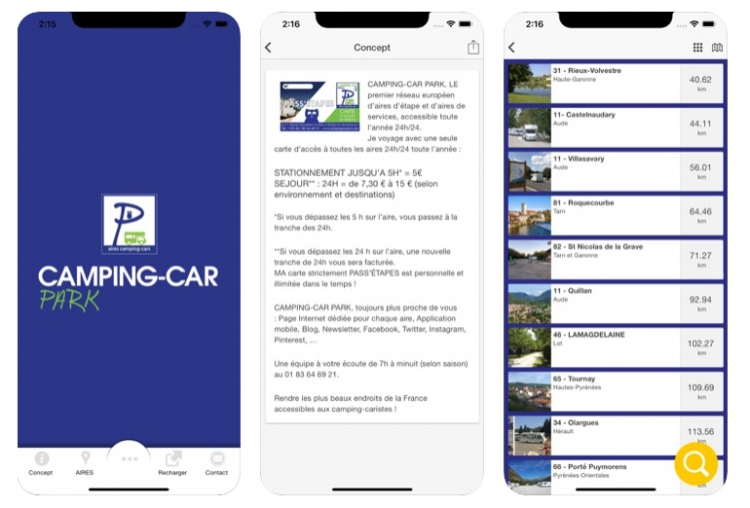 CAMPING-CAR PARK, une application destinée aux 1,8 million de camping-caristes européens