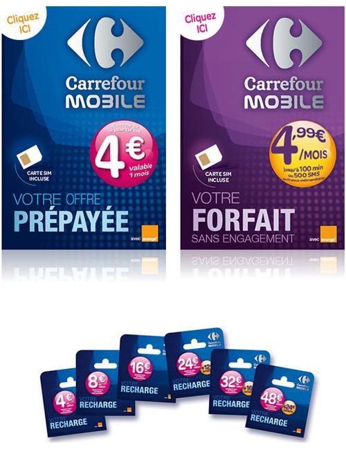 Carte Gsm Carrefour.Carrefour Mobile Lance Un Forfait A 4 99 Mois