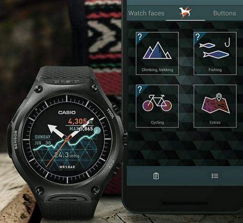 casio wsd f10 une montre android wear tout terrain. Black Bedroom Furniture Sets. Home Design Ideas