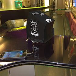 CharLi Charger équipe les Cafés TGV de la ligne Paris-Lyon