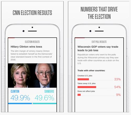 CNN Politics, une application pour suivre la course à la Maison-Blanche