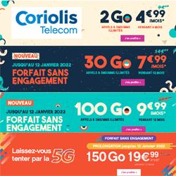 Coriolis Telecom : 4 forfaits sans engagement de 2 Go, 30 Go, 100 et 150 Go en promotion jusqu'au 26 octobre