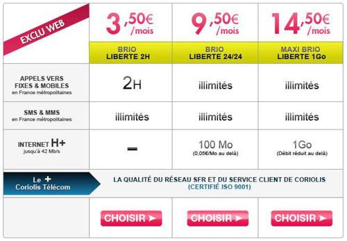 Coriolis Télécom casse les prix de l'illimité sans engagement