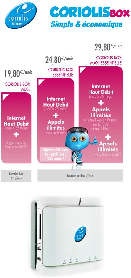 Coriolis Télécom lance la « Coriolis Box »