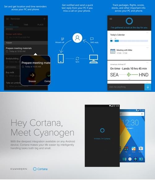Cortana fait son entrée officielle sur iOS, Android et Cyanogen OS