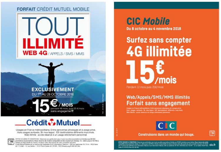 Crédit Mutuel Mobile et CIC Mobile lancent leur forfait web illimité