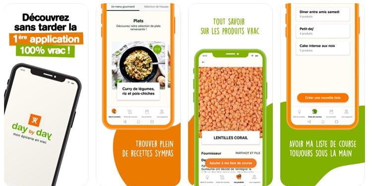 day by day, le réseau d'épicerie en vrac lance son application gratuite