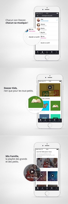 Deezer lance une offre familiale similaire à celle d'Apple Music