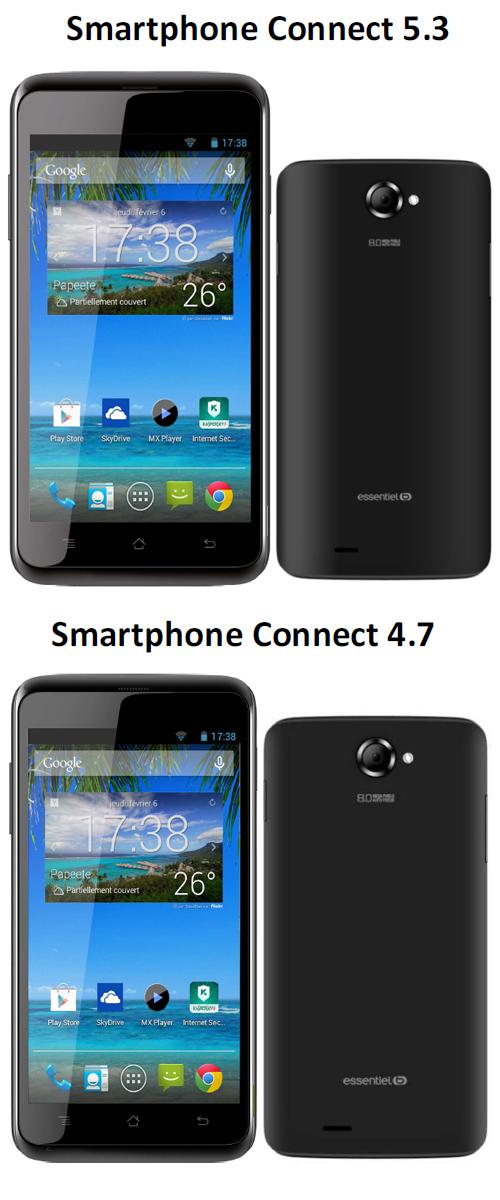 Deux nouveaux smartphones Connect chez Essentiel b