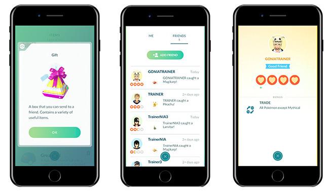 Deux nouvelles fonctions dans Pokémon GO : Amis et Echange