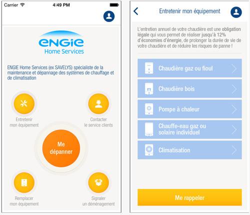 engie home services lance sa premire application mobile. Black Bedroom Furniture Sets. Home Design Ideas