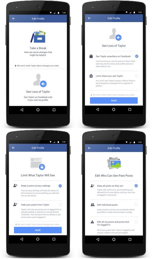 Facebook ajoute un outil pour faciliter une rupture