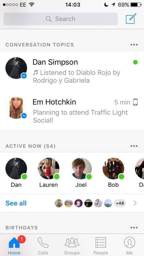 Facebook Messenger : des informations présentes pour faciliter les conversations ?