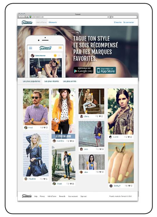 Famest : une nouvelle appli mode communautaire qui partage vos looks