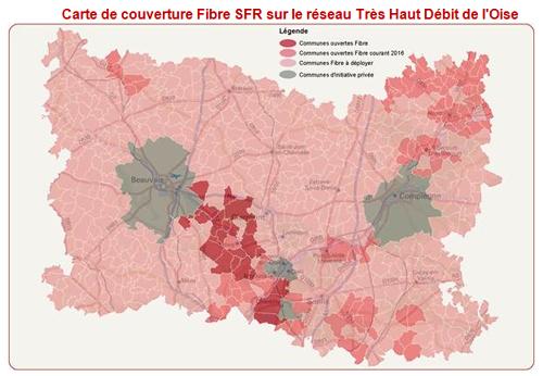 Fibre : SFR étend ses services Très Haut Débit aux habitants de l'Oise