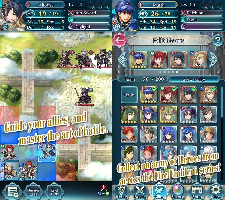 Fire Emblem : Heroes, le second jeu de Nintendo devrait être lancé sur iOS et Android le 2 février