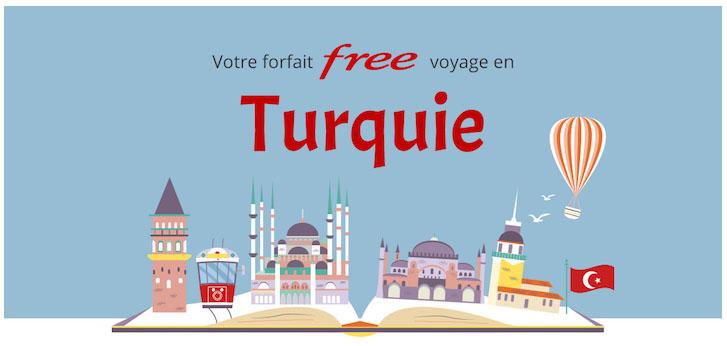 Free Mobile : 25Go/mois d'Internet mobile inclus depuis la Turquie