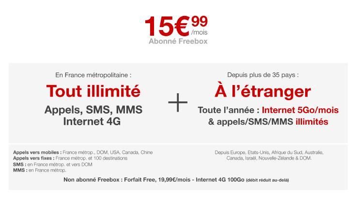 Free Mobile, le forfait 4G illimité passe à 100 Go par mois