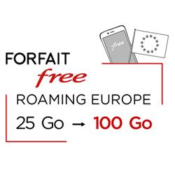 Free offre 100 Go/mois de data 4G à ses abonnés bloqués en Europe