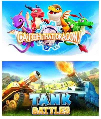 Gameloft prévoit la sortie de Catch That Dragon et Tank Battles pour la fin de l'année