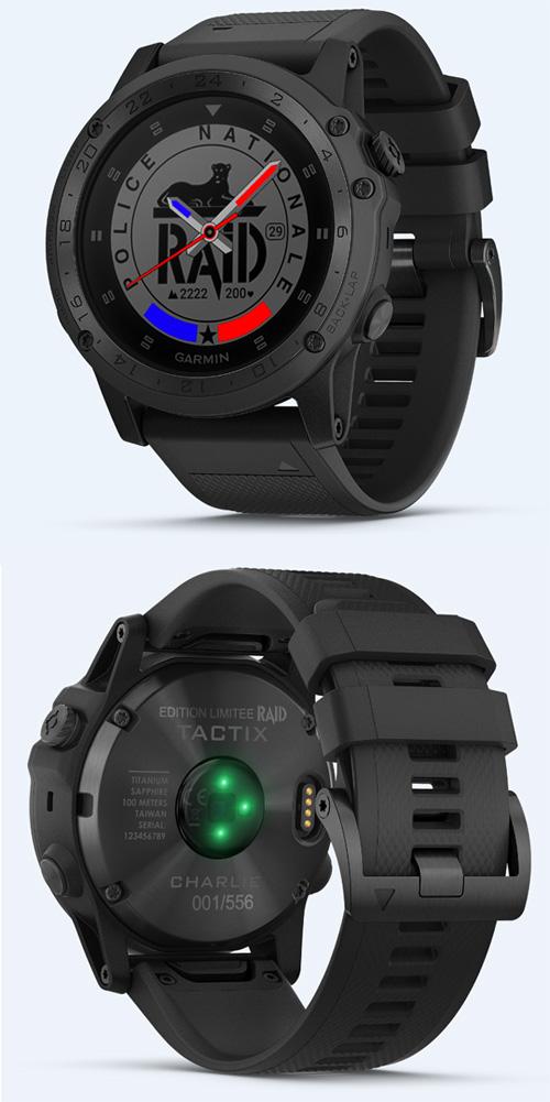 Garmin Tactix Charlie, une montre utilisée par les membres du RAID