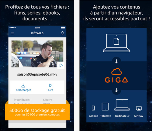 Gigatribe lance son application iOS et offre 500 Go de stockage