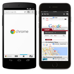 Google Chrome : 800 millions d'utilisateurs actifs conquis par mois sur mobile