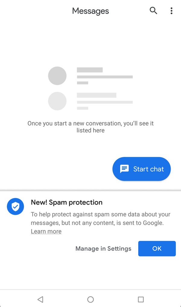 Google part en guerre contre le spam par SMS