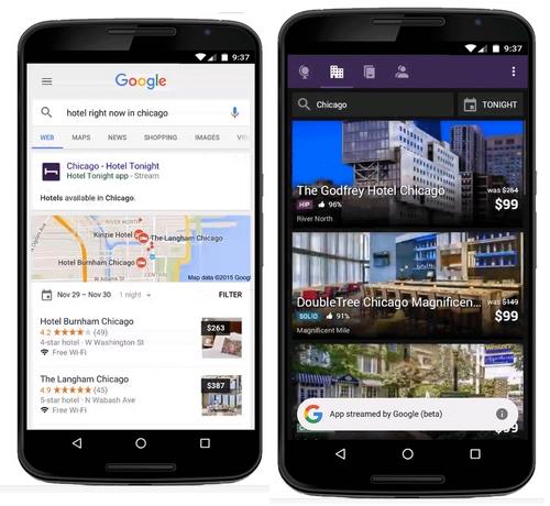 Android : certaines applications sont disponibles en stream sans les installer