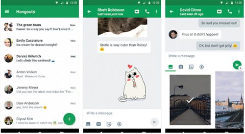 Hangout : vers la fin de la gestion des SMS et MMS ?