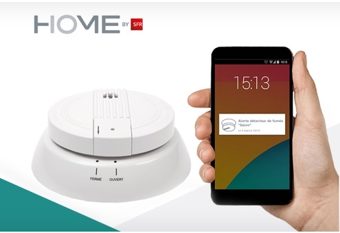 Home by SFR propose un dispositif de sécurité avec un détecteur de fumée connecté